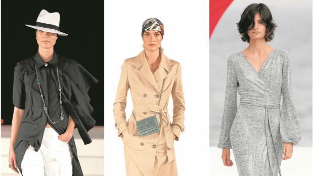 (De izq. a dcha.) Diseños de Alvarno, Jorge Vázquez y Melissa Odabash