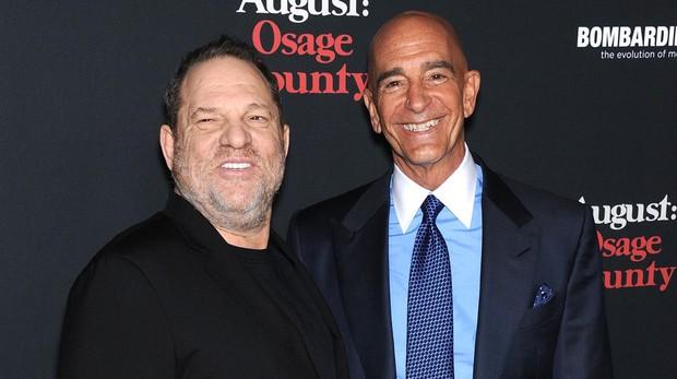 Tom Barrack y Harvey Weinstein en 2013