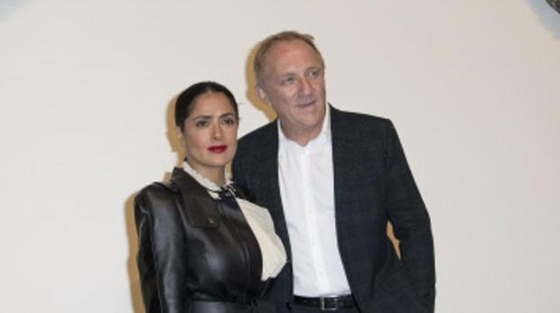 Salma Hayek y su marido