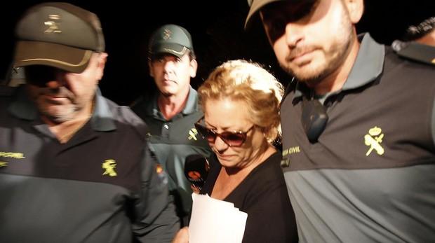 La entrada en prisión de Mayte Zaldívar en 2014
