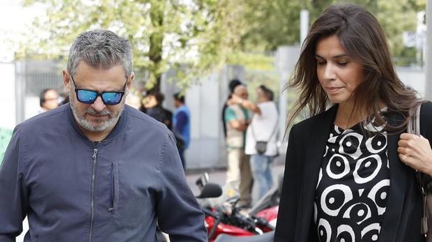 El presentador Miki Nadal a su llegada al Juzgado de Violencia contra la Mujer de Madrid