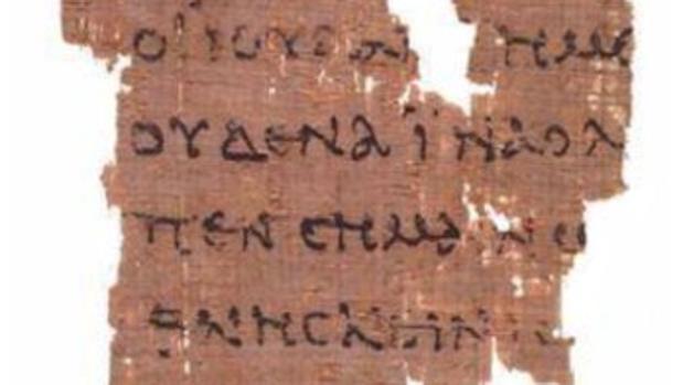 El Papiro P52, el fragmento manuscrito más antiguo conocido del Nuevo Testamento, escrito en griego