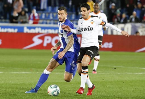 Parejo, lors d'un match contre Valence