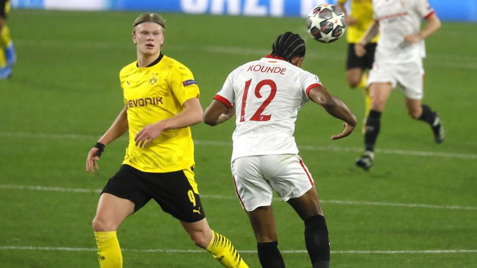 Borussia Dortmund derrota a Sevilla en lluvia de goles, Erling Haaland anotó un doblete
