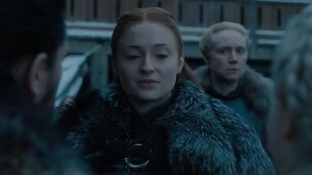 Sansa, Daenerys y Jon en el final de Juego de tronos
