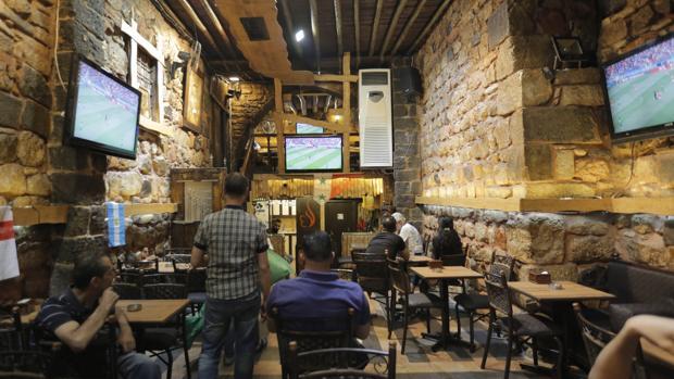 Espectadores de fútbol en el Mundial