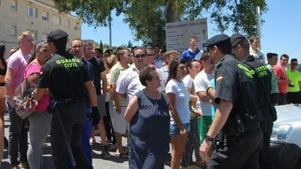 Manifestación vecinal contra el clan de Los Chorizos de Estepa