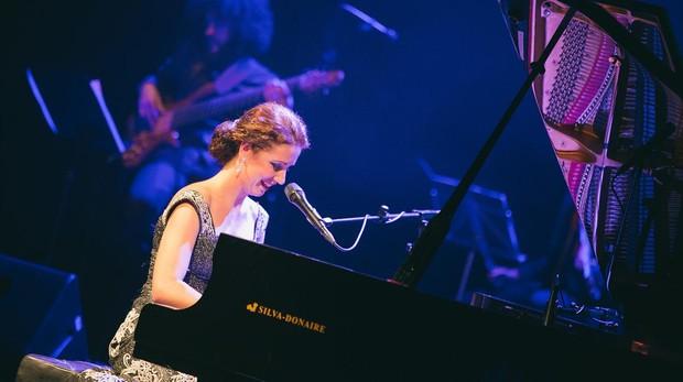 Laura de los Ángeles durante una actuación en el Lope de Vega