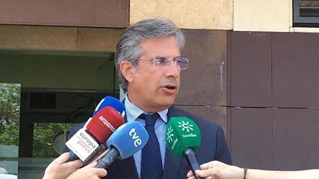 El abogado de los padres de la menor, Javier Jaenes, en una de las comparecencias judiciales