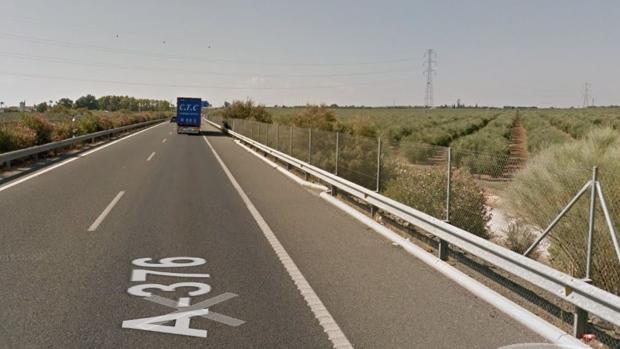 Carretera A-376, donde ha ocurrido el accidente