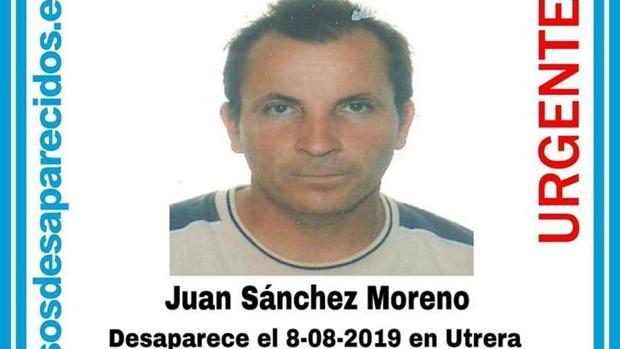 Juan Sánchez Moreno se encuentra desaparecido desde el pasado 8 de agosto en Utrera