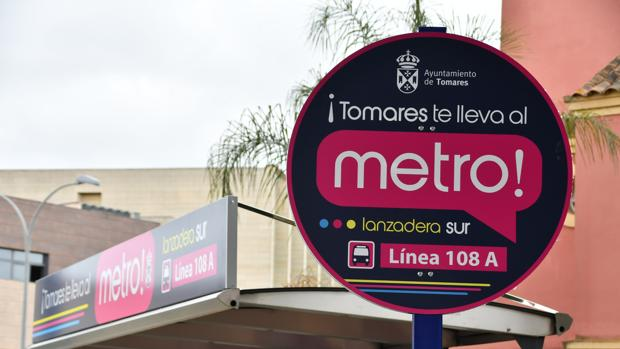 La lanzadera de Tomares a la estación de metro de San Juan Alto alcanzó los cien mil usuarios en 2018