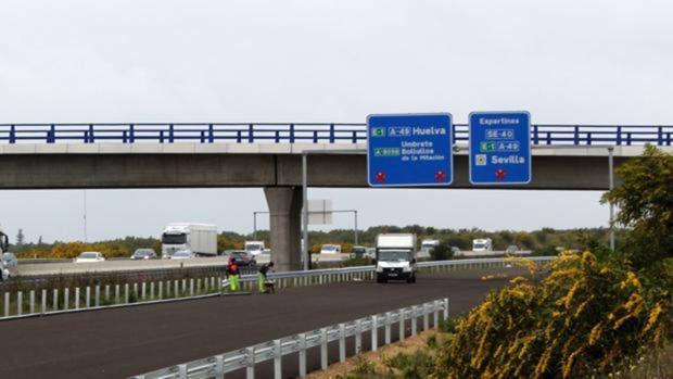 Obras en la conexión de la SE40 con la A49 a la altura de Espartinas