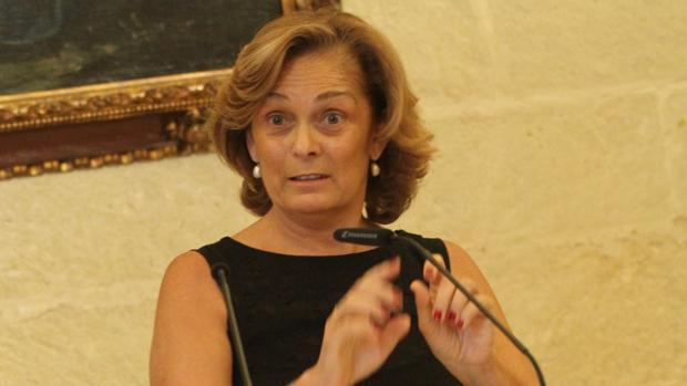 La concejal del PP Dolores de Pablo, en el Ayuntamiento
