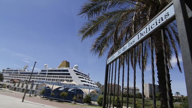 Acceso a la terminal de crucero en el muelle de las Delicias
