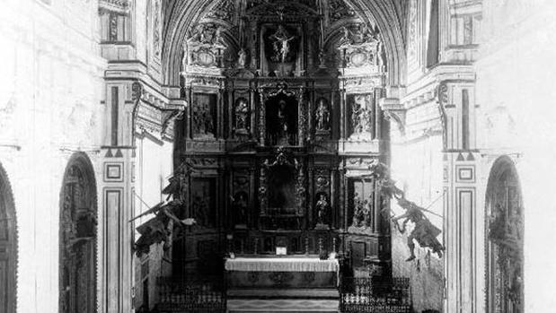 Iglesia de Santa Clara en una fotografia de la Fototeca del Laboratorio de Arte