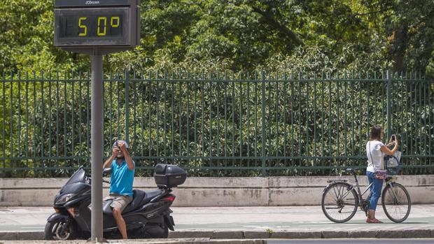 En el centro de la ciudad las temperaturas son más elevadas