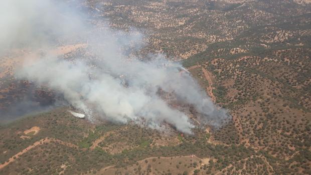Incendio en el paraje Vega del Trabuco en El Ronquillo