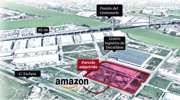 9883a680b Sevilla Ubicación del futuro centro logístico de Amazon en Sevilla
