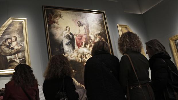 Exposición «Murillo. IV Centenario», que fue inaugurada en el museo de Bellas Artes el pasado mes de noviembre