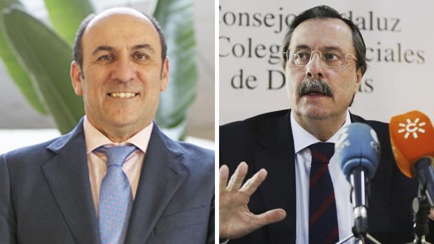 Rafael Martínez de Fuentes, a la izquierda, y Luis Cáceres Márquez