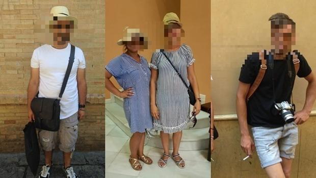Algunos de los carteristas identificados por la Policía en el Centro de la ciudad