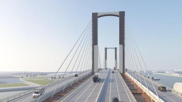 El puente contaría con diez carriles si se ejecuta el proyecto completo