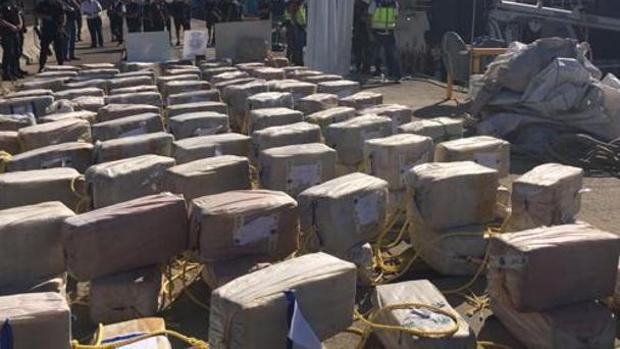 Cargamento de cocaína intervenido en una operación anterior en Algeciras