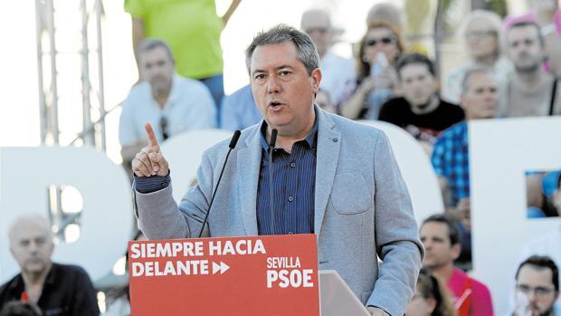 Juan Espadas, durante un acto de la pasada campaña electoral