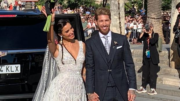 Sergio Ramos y Pilar Rubio ya son marido y mujer