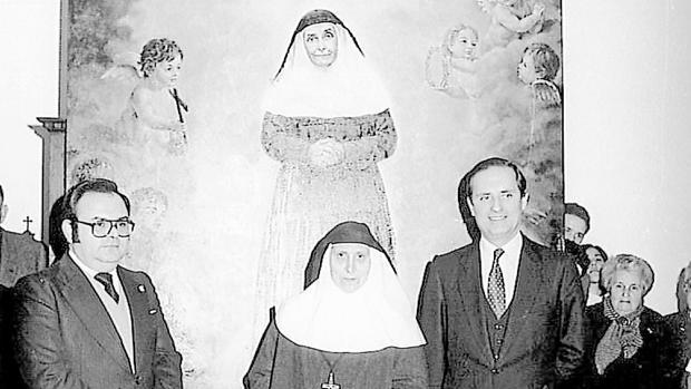 Madre María de la Purísima en un acto en Sevilla fotografiada por Jesús Martín Cartaya