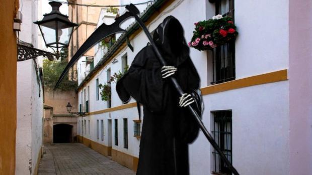 Figuración de la muerte por las calles de la Judería de Sevilla
