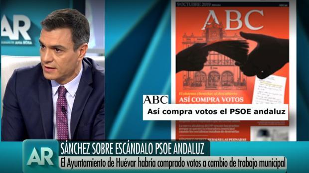 Pedro Sánchez, en el programa de Ana Rosa Quintana hablando de los papeles de Huévar