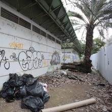Basura en los Jardines del Guadalquivir