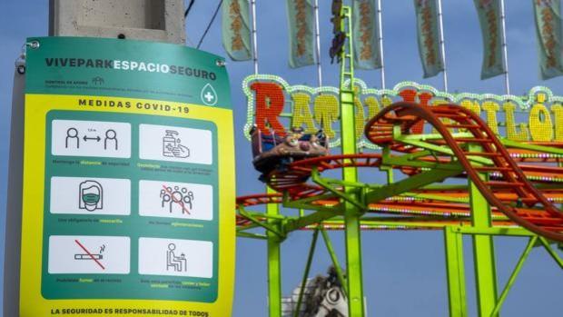 Una de las atracciones de Vive Park, ubicado en la Calle del Infierno de Sevilla