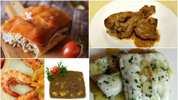 Cinco menús con primero, segundo y postre